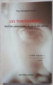 Livre Les tempéraments outil de connaissance de soi et des autres