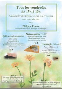 Read more about the article Séance de naturopathie, iridologie ou réflexologie plantaire à l'Eau Vive Meylan
